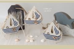 alessandra creazioni campi bisenzio firenze sacchettini matrimonio comunione mare barca ART.C1581
